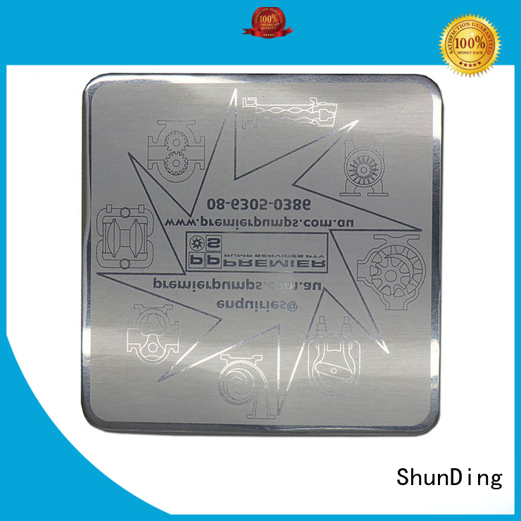 bottle metal plate sticker from China for activist ShunDing
