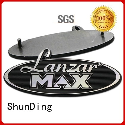 3d metal engraved name plates factory price for identification ShunDing