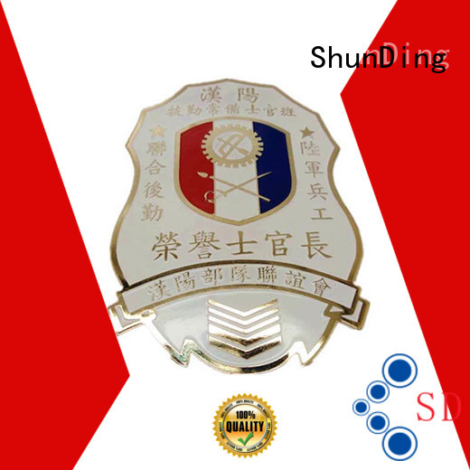 ShunDing popular personalised metal badges diecasting for company