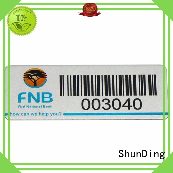 wine color ShunDing Brand self adhesive metal labels factory