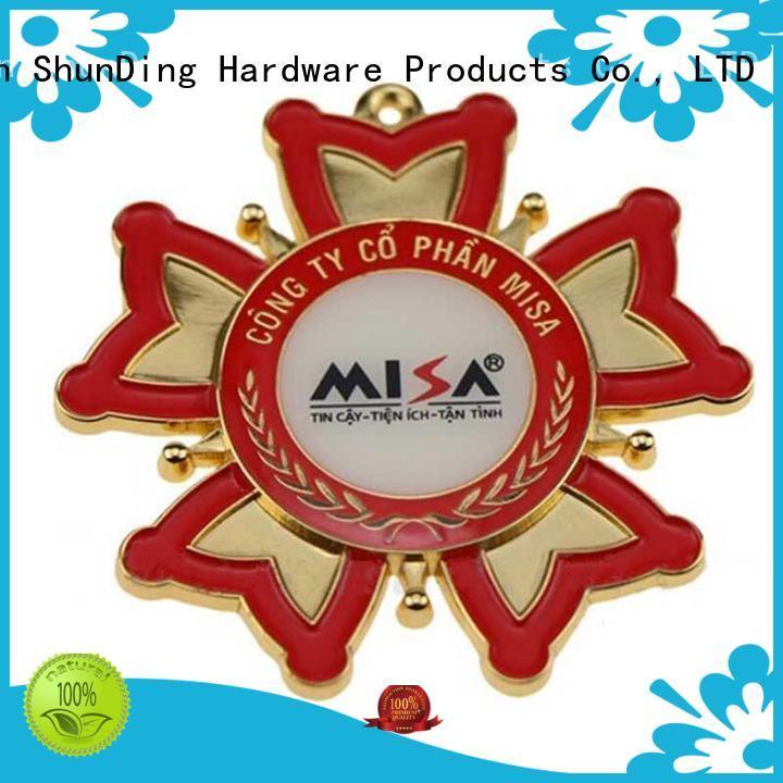 Wholesale souvenir metal police badge medal ShunDing Brand