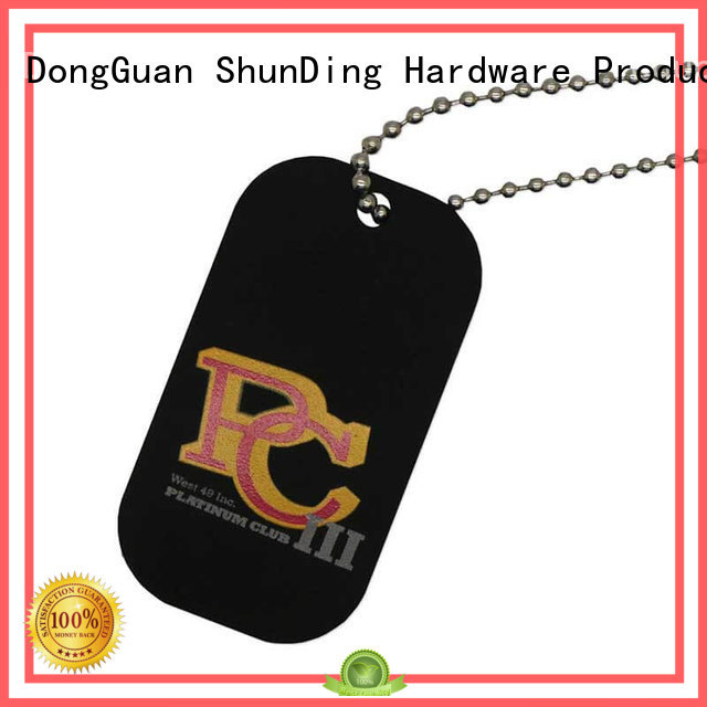 color open pattern metal dog tags ShunDing Brand