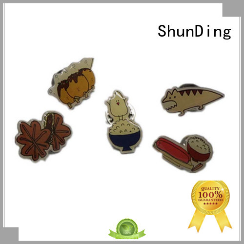 ShunDing Brand souvenir logo fancy metal badge