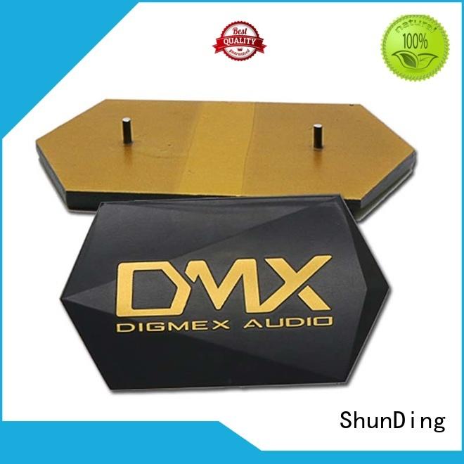 Wholesale brushing metal name plate ShunDing Brand