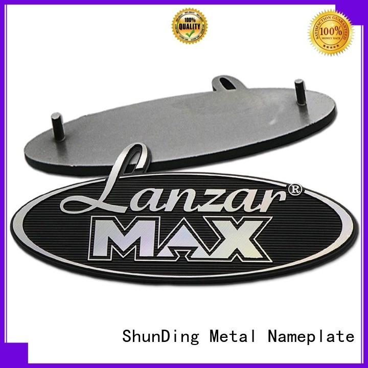 metal aluminium name plate car for company ShunDing