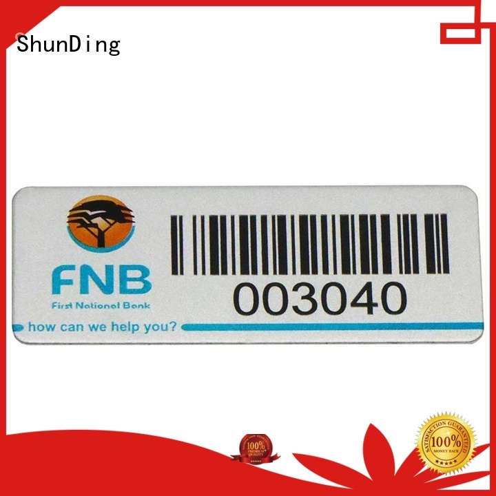 diamond label color barcode labels etched ShunDing Brand