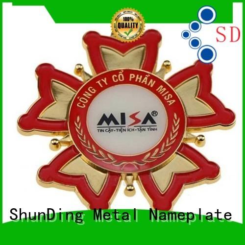 ShunDing stunning metal badge manufacturers owner for activist