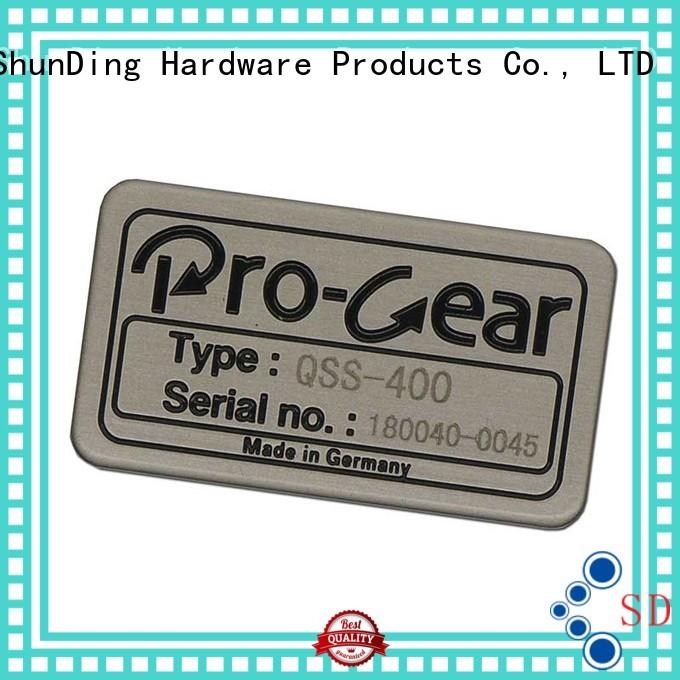 metal logo stickers anodized thin metal sticker steel ShunDing Brand