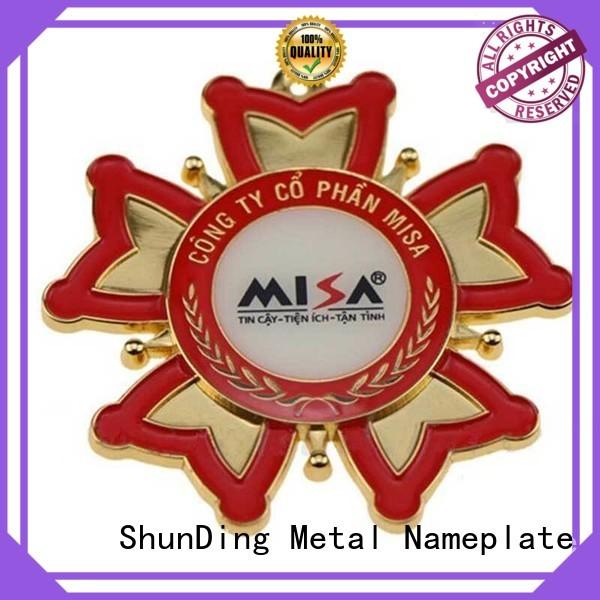 fine- quality metal badge manufacturers design cost for souvenir