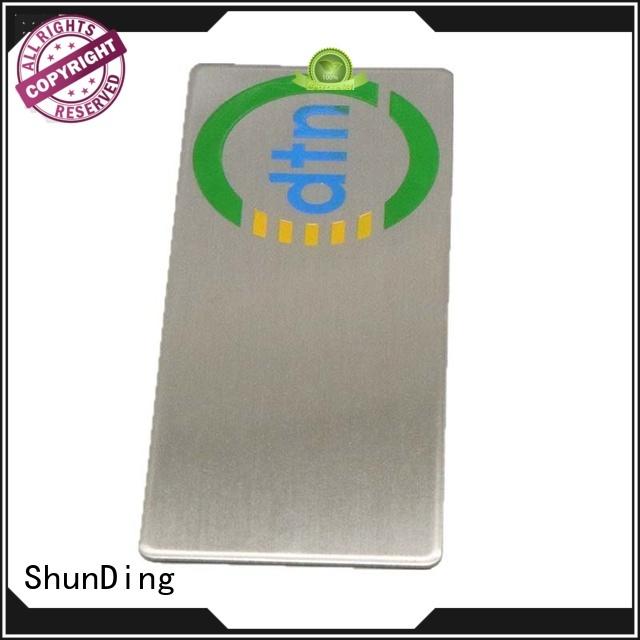 corner number anodized ShunDing Brand self adhesive metal labels factory