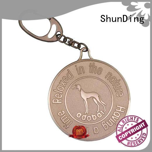 key metal dog tags engraved chain for identification ShunDing