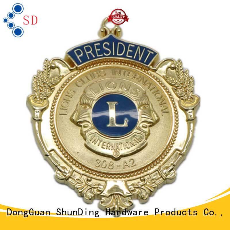 selling metal police badge style badge ShunDing Brand