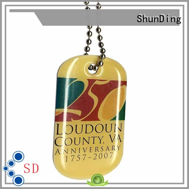 ShunDing 3d brand tag free quote for meeting
