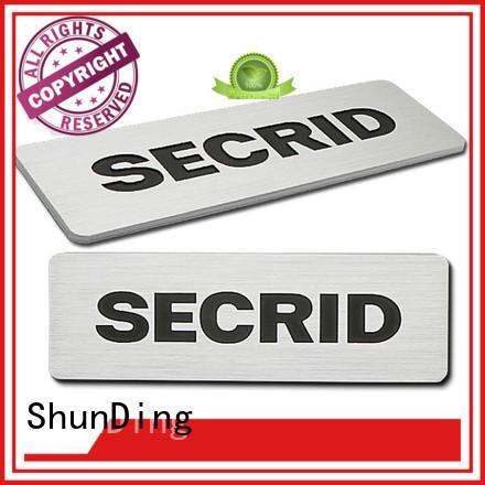 metal name plate brushing diamond cutting Warranty ShunDing