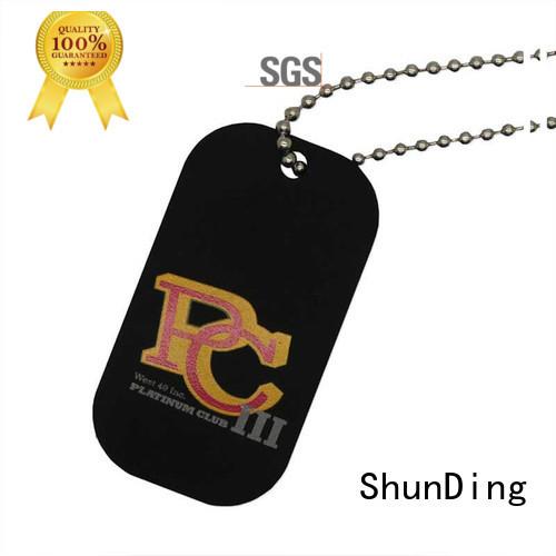 ShunDing high-quality metal hang tag beaded for activist