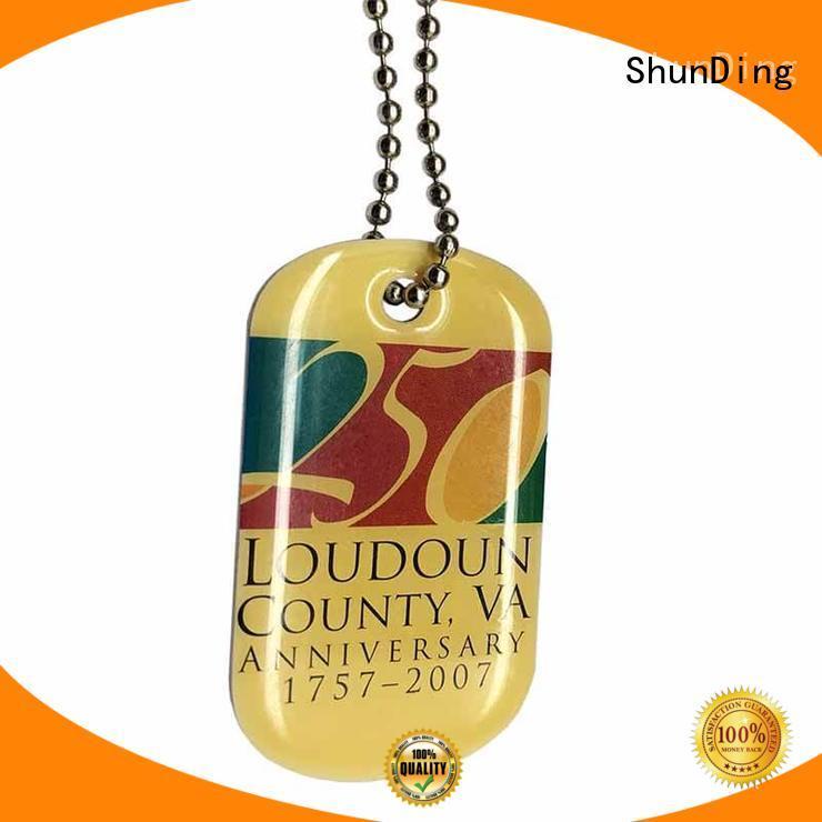 ShunDing high-quality custom metal luggage tags tag for meeting