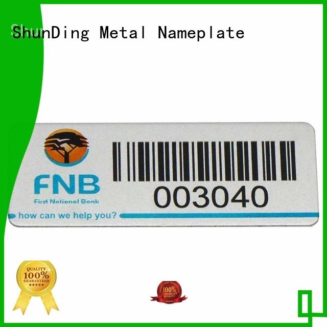 ShunDing perfume steel label from manufacturer for souvenir