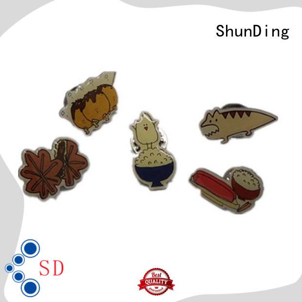 ShunDing advanced custom metal badges cost for identification