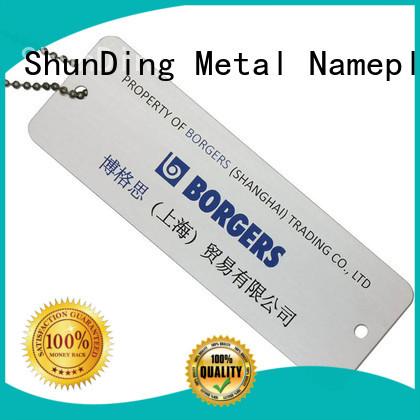 ShunDing open asset tag free design for auction