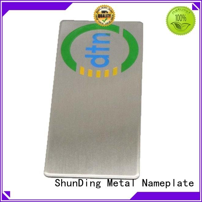 ShunDing perfume aluminium labels order now for souvenir