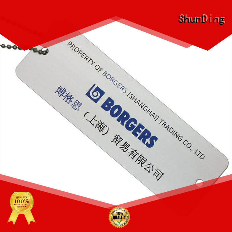 ShunDing beaded personalized metal luggage tags free quote for activist