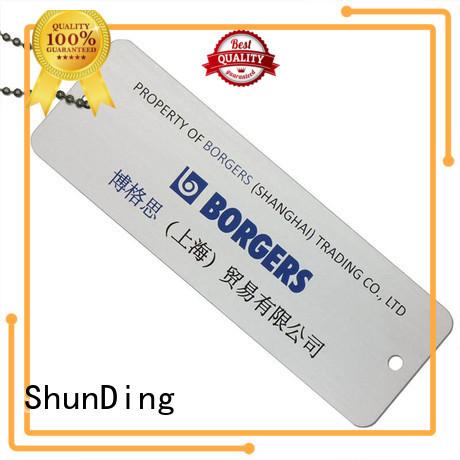 ShunDing fine- quality brand tag free design for souvenir