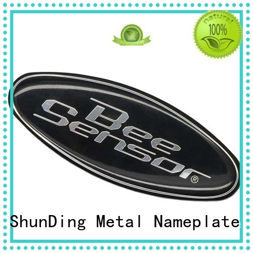 glossy aluminium sticker by Chinese manufaturer for staff ShunDing