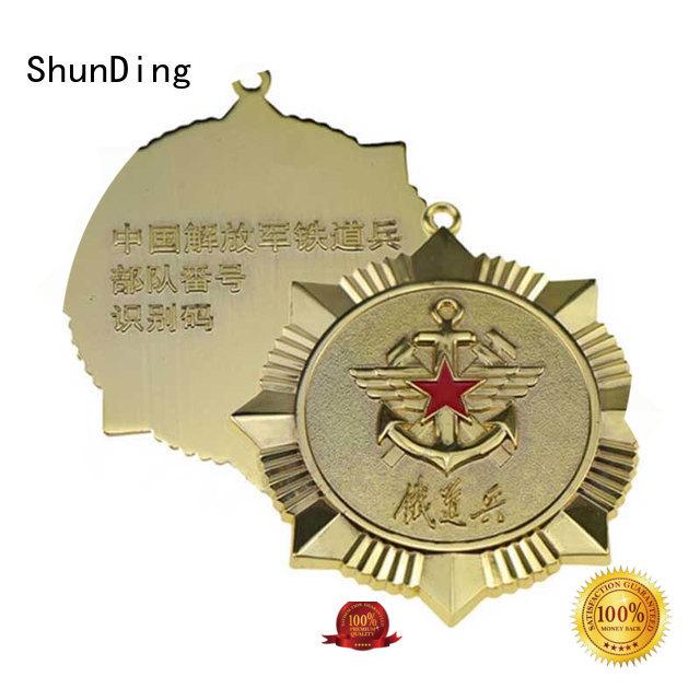 ShunDing fashion metal logo badge cost for staff