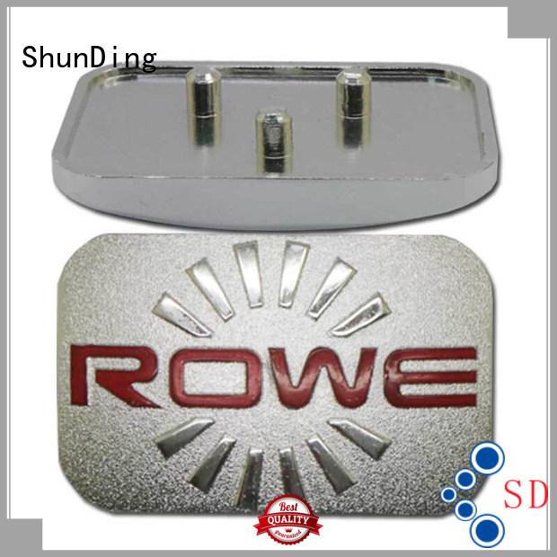 ShunDing Brand luxury embossed silver metal name plate