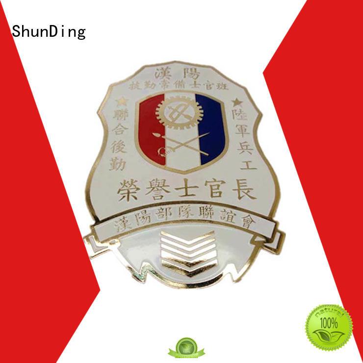 design epoxy metal police badge private ShunDing company
