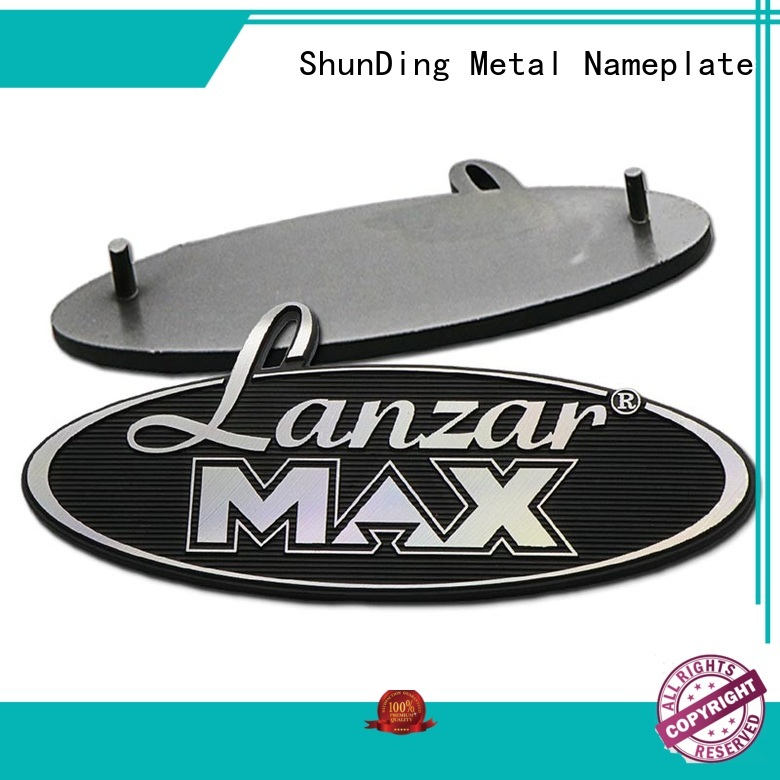 ShunDing newly small metal name plates directly sale for souvenir