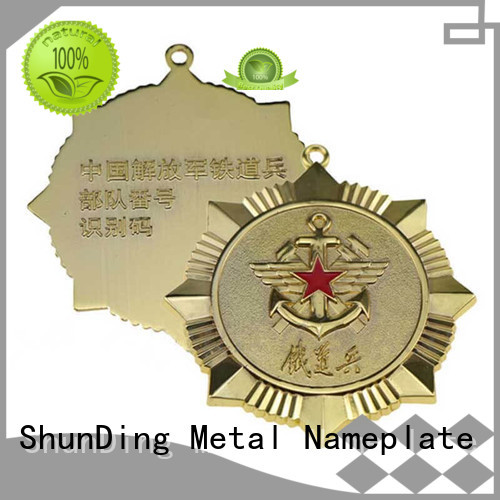 custom metal medal badge for staff ShunDing