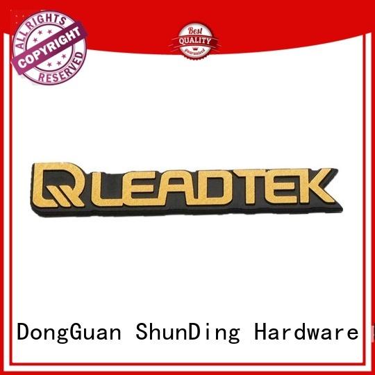 ShunDing new-arrival anodized aluminum labels logo for commendation