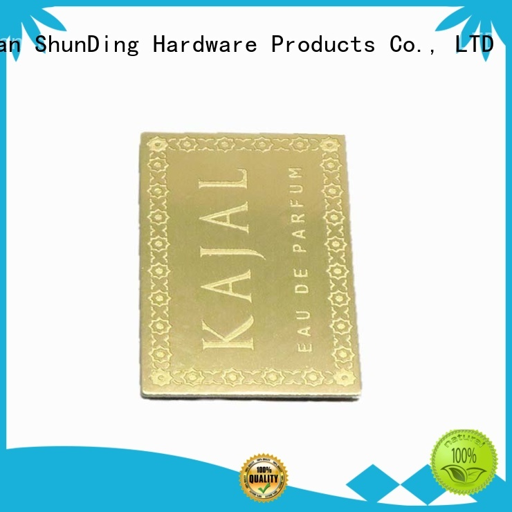 self adhesive metal labels embossed steel barcode labels ShunDing Brand