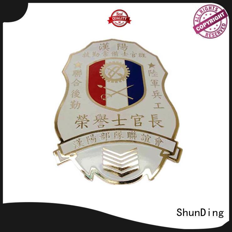 metal police badge fancy logo private Warranty ShunDing