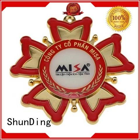 ShunDing quality metal badge marketing for staff