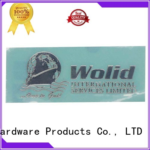 glossy etched plate metal sticker ShunDing Brand
