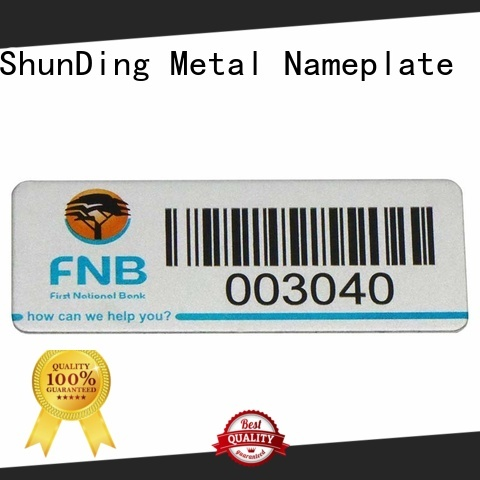 ShunDing domed metal label order now for commendation