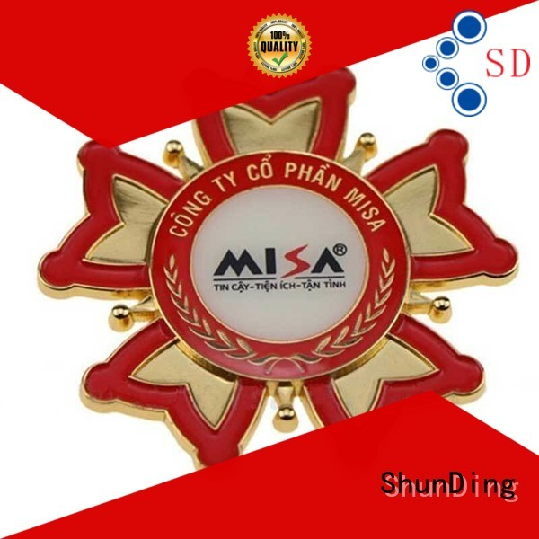 ShunDing magnificent metal sticker from China for commendation