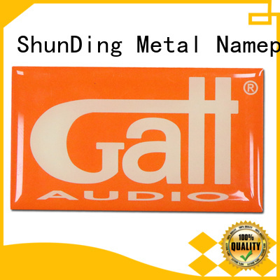 ShunDing epoxy metal plate sticker China Factory for souvenir
