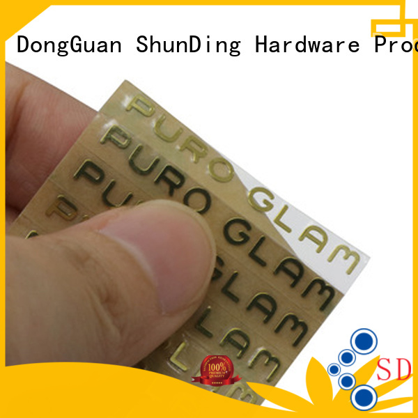 ShunDing injected stainless steel sticker with good price for commendation