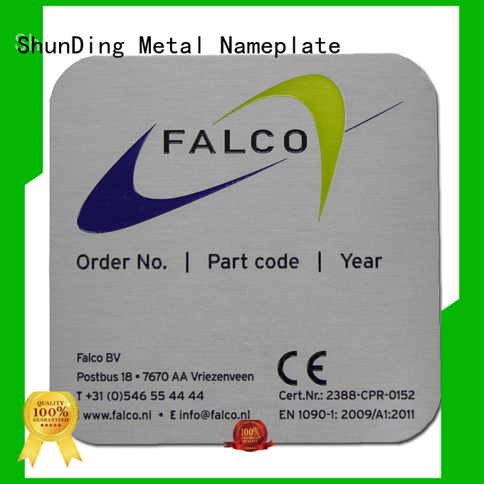 ShunDing first-rate personalized name plates with cheap price for identification