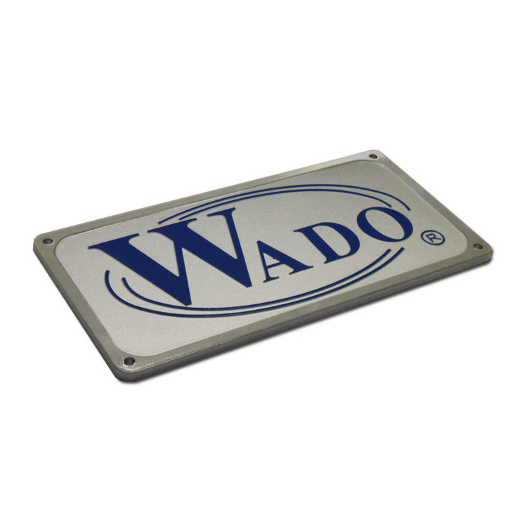 Anti-UV anodized metal name plates SD-N00017-5