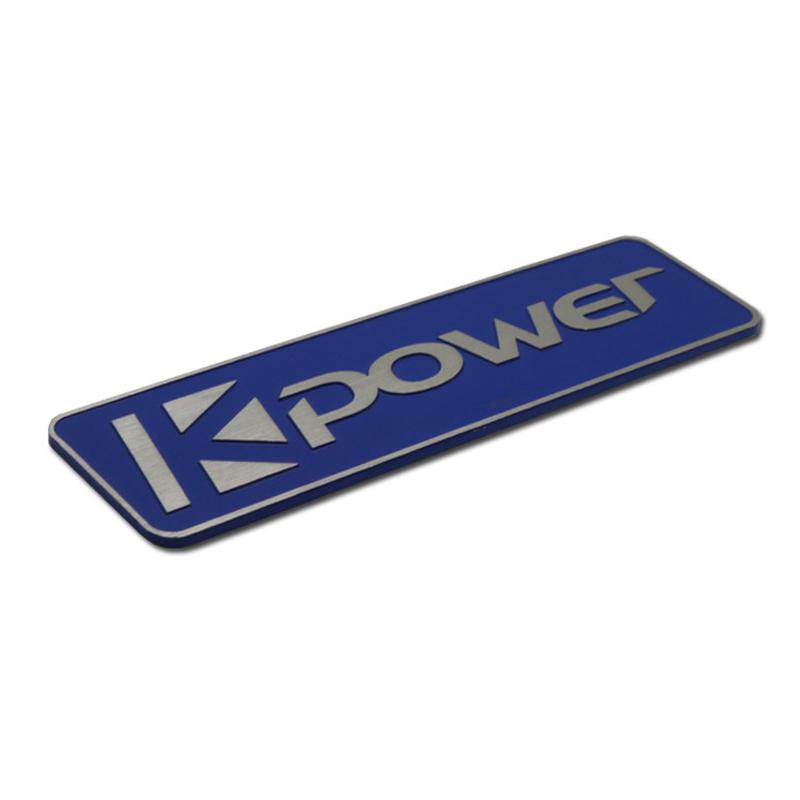 Lacqured 3D logo aluminum nameplates