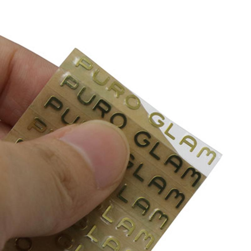 Custom gold electroforming nickel transfer sticker for logo labels