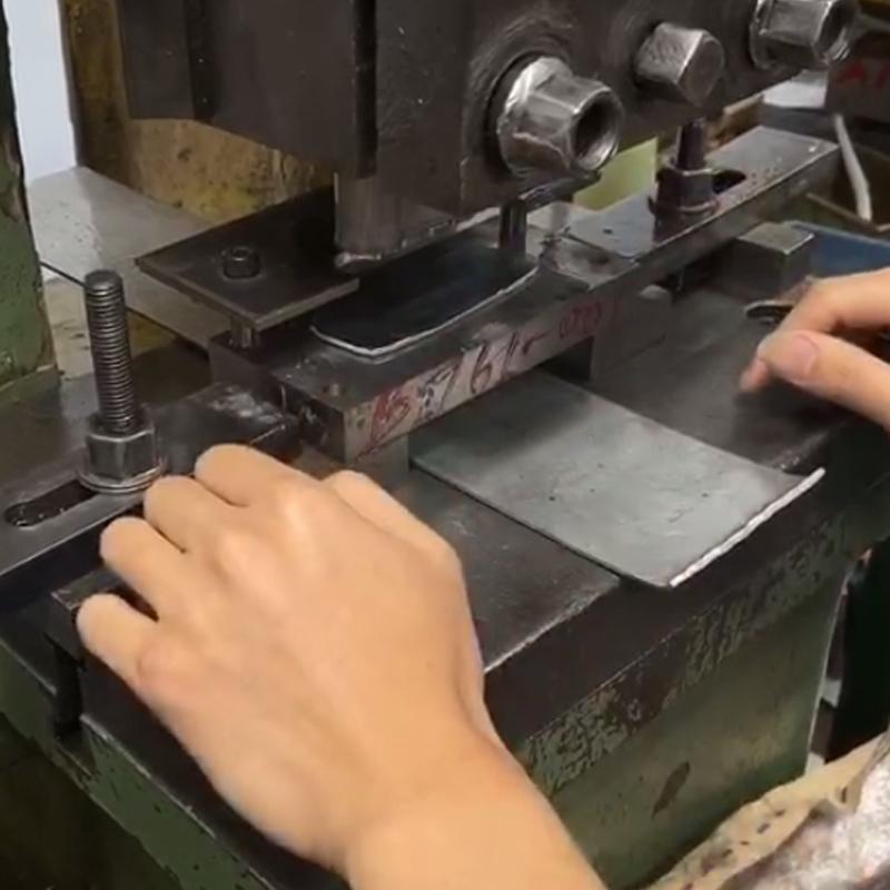 Metal puching upon nameplate