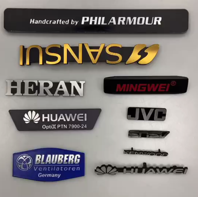 Diamond cutting make nameplate more gloss