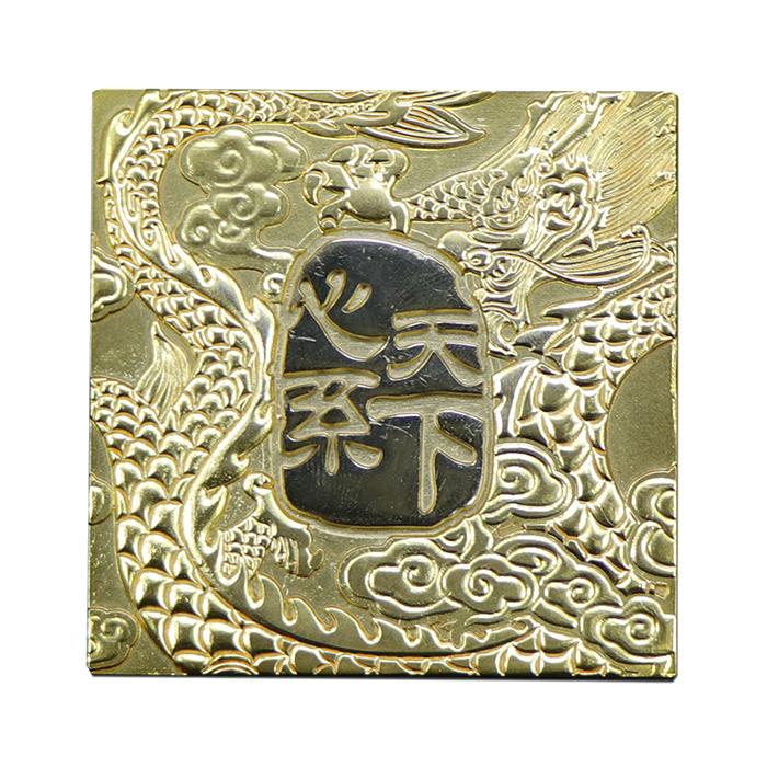 Custom gold electroplating zinc alloy nameplate