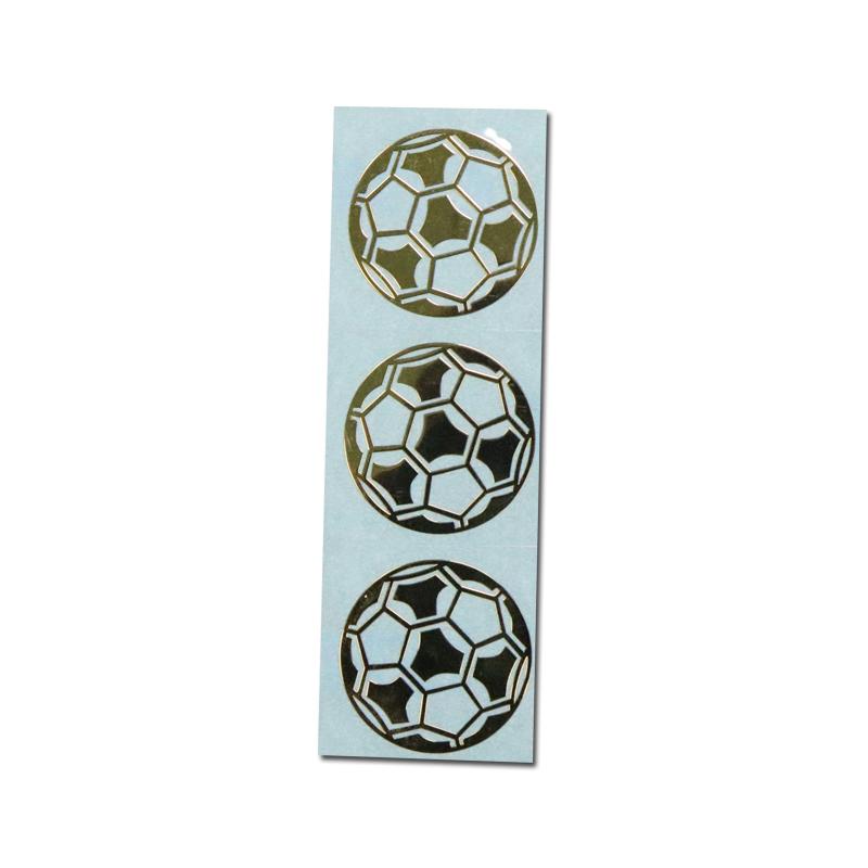 Custom Electroformed Glossy Gold Sticker