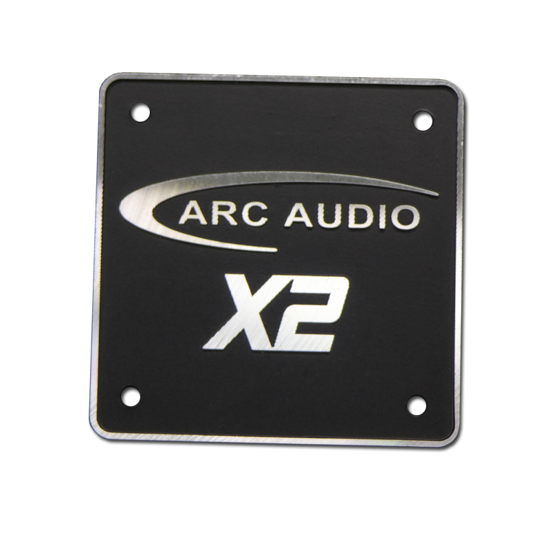 Custom Audio Aluminum Nameplate